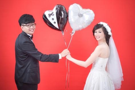 素棚創意婚紗照-台北婚攝力元爸