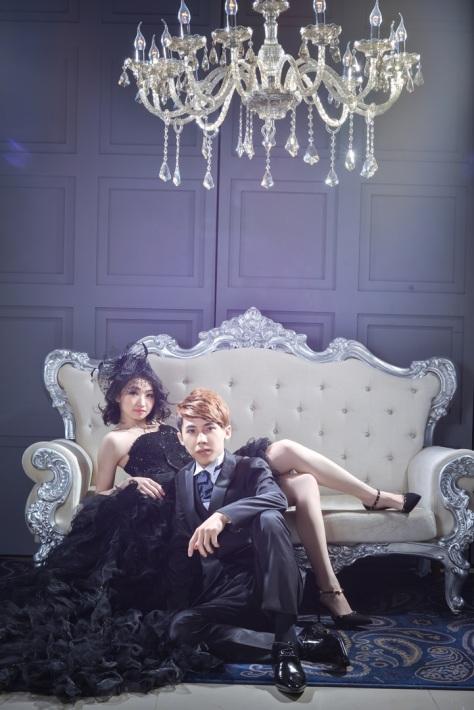 時尚黑婚紗照-台北婚攝力元爸